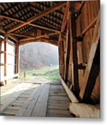 Inside Big Rocky Fork Bridge Metal Print