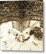 Inside Eiffel Metal Print