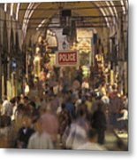 Inside Istanbuls Grand Bazaar Metal Print