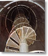 Inside Looking Up - Matagorda Island Lighthouse Metal Print