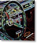 Inside Of A Classic Car Metal Print