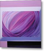 Inside Purple Metal Print