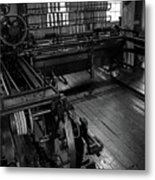 Inside Slater Mill Metal Print