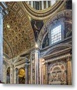 Inside St Peter's Basilica Rome Metal Print