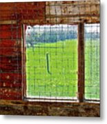 Inside The Barn Metal Print