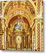 Inside The Basilica Metal Print