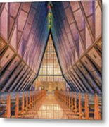 Inside The Cadet Chapel Metal Print