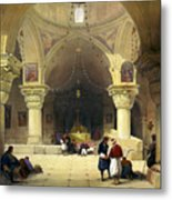 Inside The Church Of The Holy Sepulchre In Jerusalem Metal Print