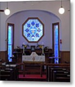 Inside The Church Of The Mediator Metal Print