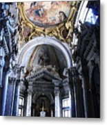 Inside The Church Santa Maria Della Salute In Venice Metal Print