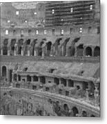 Inside The Colosseum Metal Print