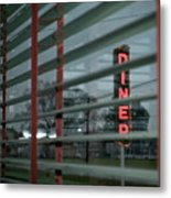 Inside The Diner Metal Print by Kathy Jennings