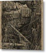 Inside The Dock Metal Print