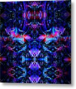 Inside The Electric Temple After Nightfall Metal Print