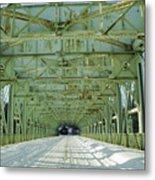 Inside The Falls Bridge - Winter Metal Print