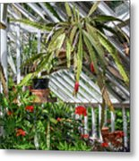 Inside The Greenhouse Metal Print