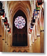 Inside The National Cathedral Metal Print
