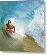 Inside Wave Tube Metal Print