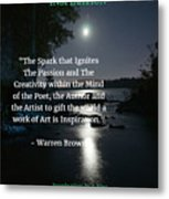Inspiration In Darkness Metal Print