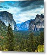 Inspiration Point Yosemite Metal Print