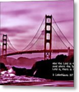 Inspirational - Nightfall At The Golden Gate Metal Print