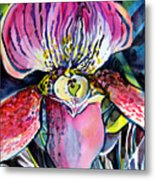 Intensely Orchid Metal Print