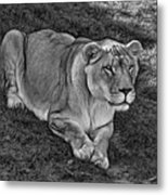 Intensity 3 Bw Metal Print