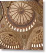 Inter Domes Of Sultan Ahmed Mosque Metal Print