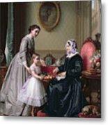 Interior At 'the Chestnuts' Wimbledon Grandmother's Birthday Metal Print