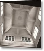 Interior Of A Japanese Colonial Building Metal Print
