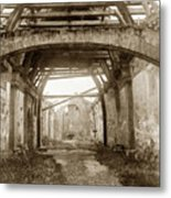 Interior Of Carmel Mission Looking Towards The Altar. Circa 1880 Metal Print
