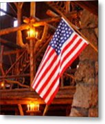 Interior Of Old Faithful Inn Metal Print