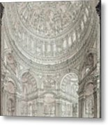 Interior Of Saint Pauls Cathedral Metal Print