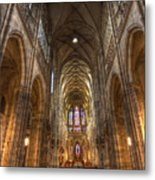 Interior Of Saint Vitus Cathedral Metal Print