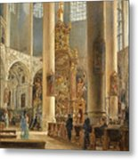 Interior Of The Franciscan Church Salzburg Metal Print