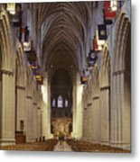 Interior Of The National Cathedral Metal Print