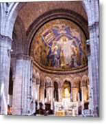 Interior Sacre Coeur Basilica Paris France Metal Print