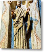 Interior Statue - San Xavier Mission - Tucson Arizona Metal Print