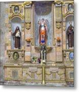 Interior View Of Church In Guanajuato Mexico Metal Print