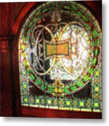 Interior Window At The Pleasant House In Oak Park, Il Metal Print