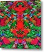 Interlocking Ghosts Red Metal Print