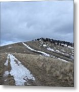 Intermittent Path Metal Print