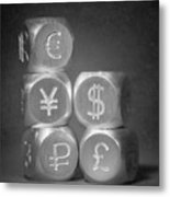 International Currency Symbols Metal Print