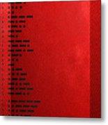 International Morse Code - Black On Red Metal Print