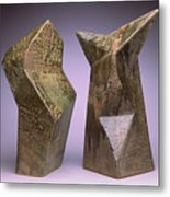 Interrelated Forms Metal Print