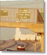 Interstate 44 West At Exit 287, Kingshighway Exit, 1980 Metal Print