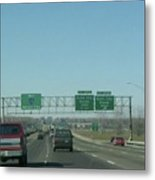 Interstate 70 West At Exit 231b, Earth City Expwy North Exit, 1999 Metal Print