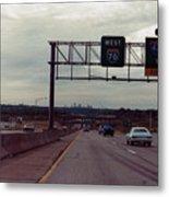 Interstate 70 West At Exit 8b, Interstate 435 North Exit, 1987 Metal Print