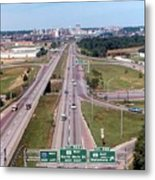 Interstate 74 West At Exit 95b, Route 116 East Exit, 1975  Metal Print