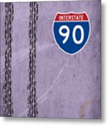 Interstate 90 Metal Print
